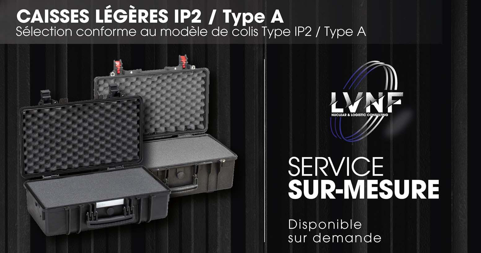 Caisses légères IP2 sur-mesure